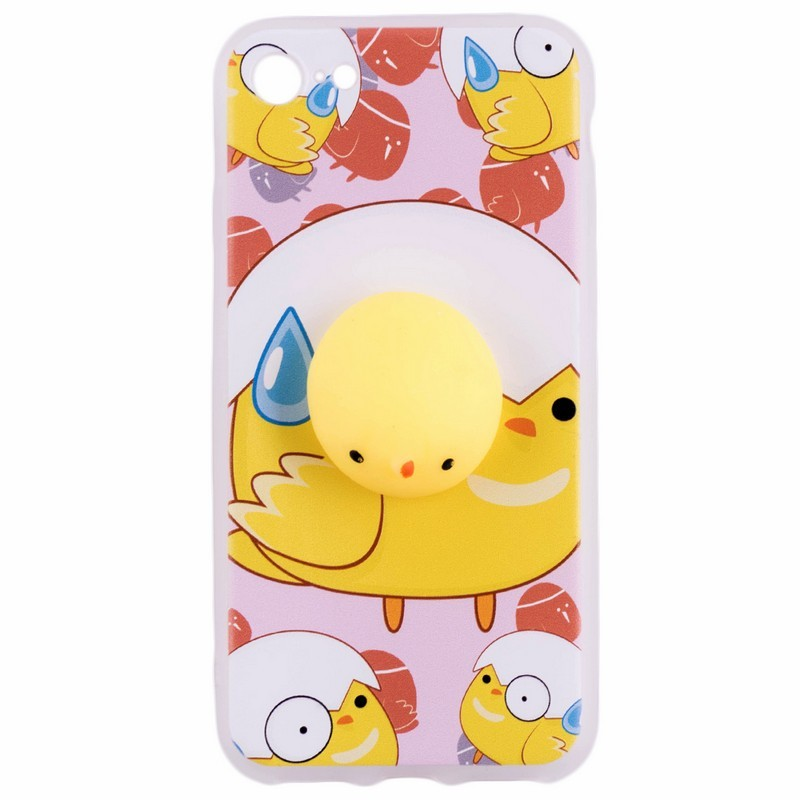 Husa Anti-Stres iPhone 7 3D Bubble - Yellow Bird