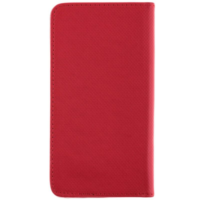 Husa Smart Book pentru telefoane intre 5.0 - 5.5 inch - Flip Rosu