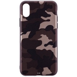 Husa Apple iPhone X, iPhone 10 Army Camouflage - Brown