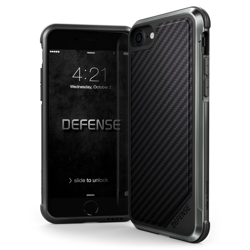 Husa Apple iPhone 7 X-Doria Defense Lux - Black Carbon