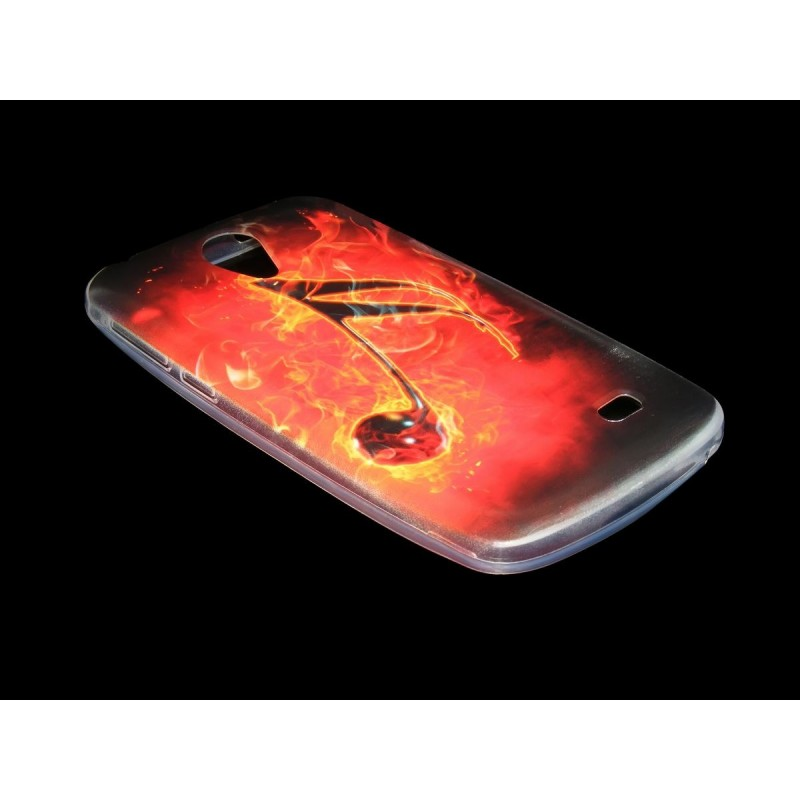Husa Allview A5 Smiley Silicon Gel TPU Burning Musical Note