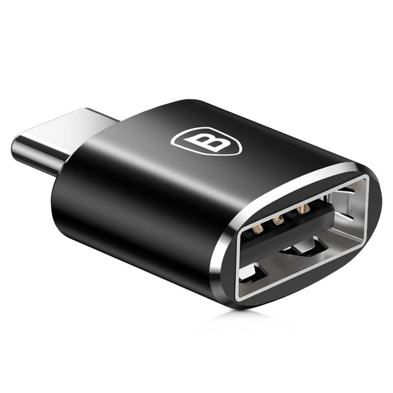 Convertor Baseus USB - Type-C- Black