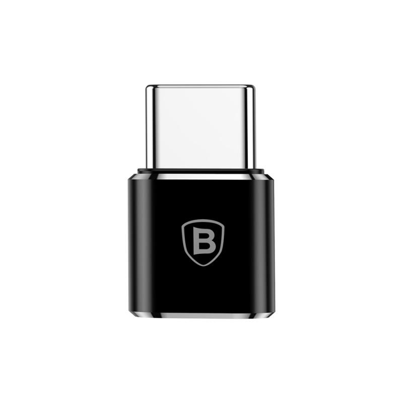 Convertor Baseus Adaptor OTG De La Micro-USB La Type-C 2.4A - CAMOTG-01 - Negru