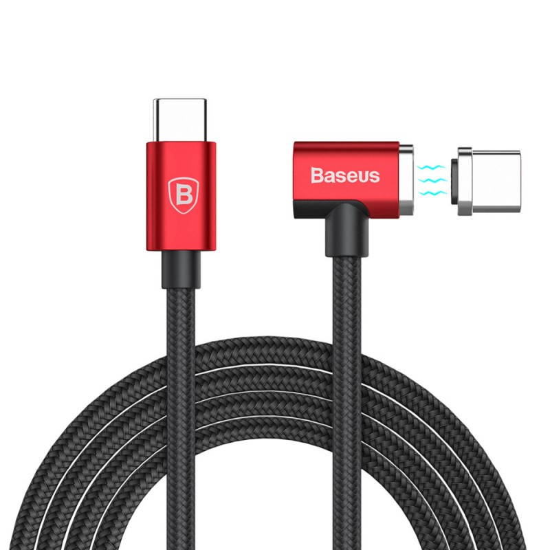 Cablu de date USB-C Baseus Magnet Series - Red