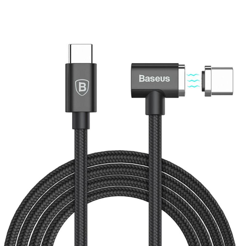 Cablu de date USB-C Baseus Magnet Series - Negru