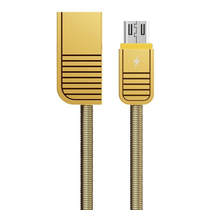 Cablu de date Micro USB Remax Linyo RC-088m - Auriu