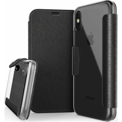 Husa Apple iPhone X, iPhone 10 X-Doria Engage Folio - Negru