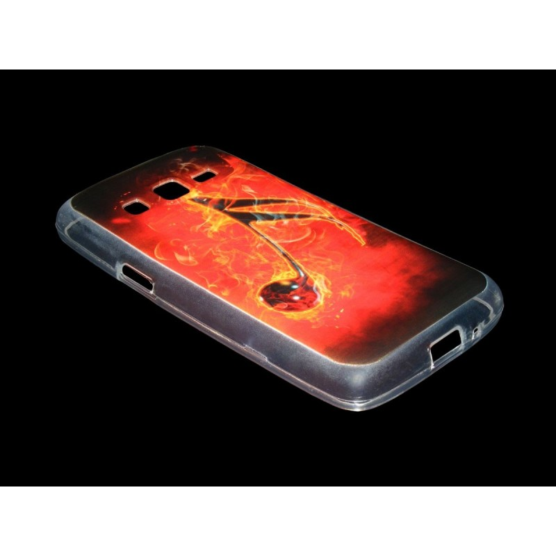 Husa Samsung Galaxy Core 4G G386F Silicon Gel TPU Burning Musical Note