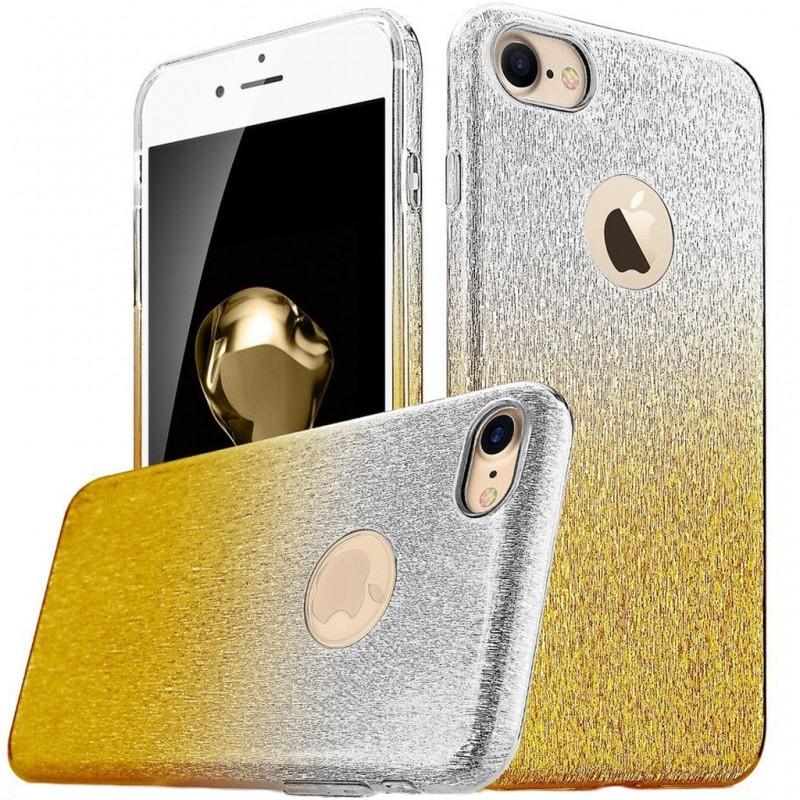 Husa iPhone SE, 5, 5S Gradient Color TPU Sclipici - Auriu