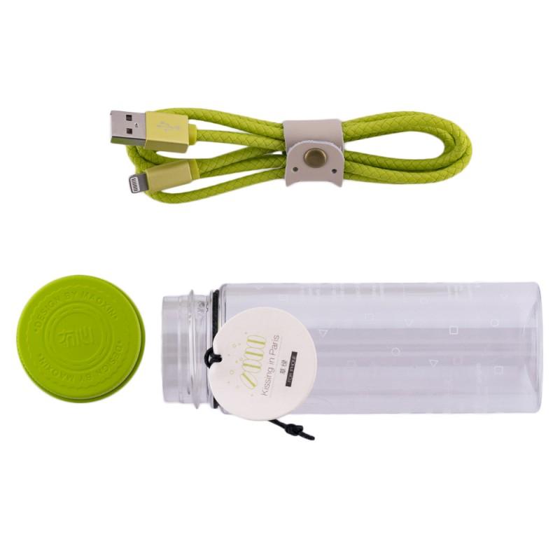 Cablu De Date Lightning Maoxin Paris Kiss- Verde