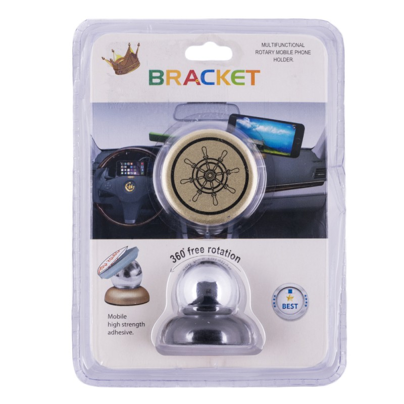 Suport Auto Universal Magnetic Pentru Telefon Ship's Wheel - Black