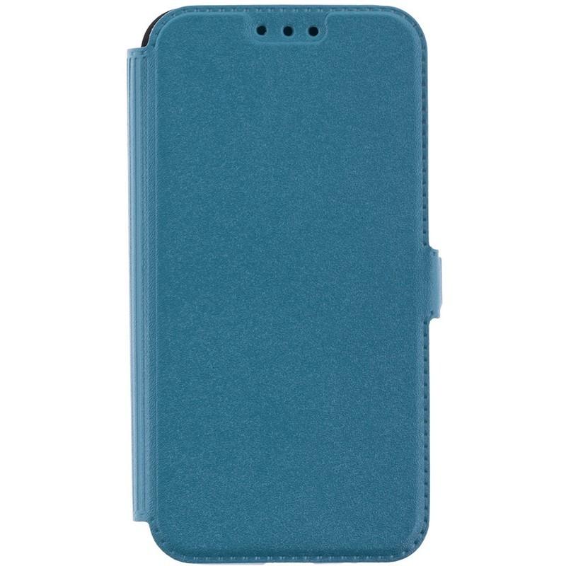 Husa Pocket Book iPhone SE, 5, 5S Flip Turcoaz