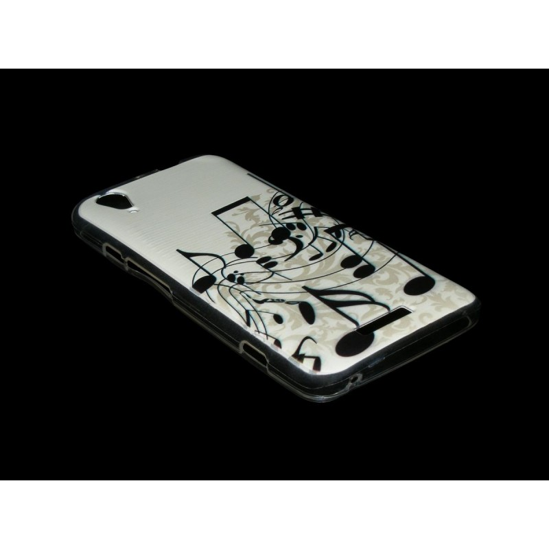 Husa ZTE Geek V975 Silicon Gel TPU Musical Notes
