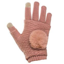 Manusi touchscreen dama, acrilic, roz