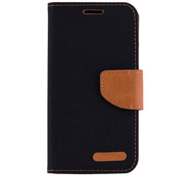 Husa Samsung Galaxy S5 G900 Book Canvas Negru