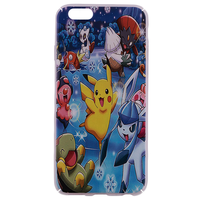 Husa Apple iPhone 6, 6s Plastic cu Model Pokemon All Stars