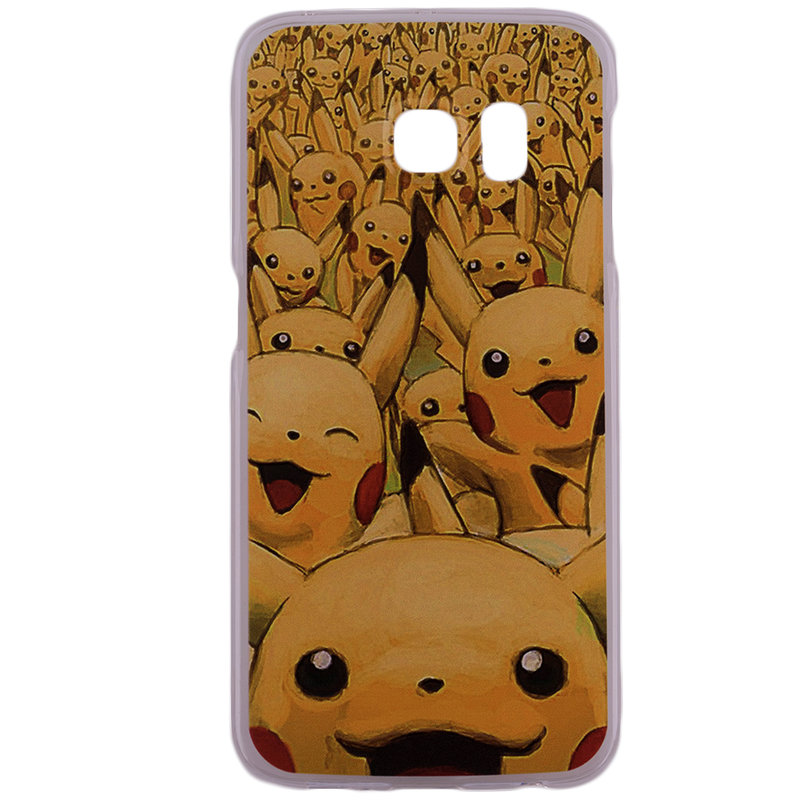 Husa Samsung Galaxy S6 Edge G925 Plastic cu Model Pokemon Pikachu Army