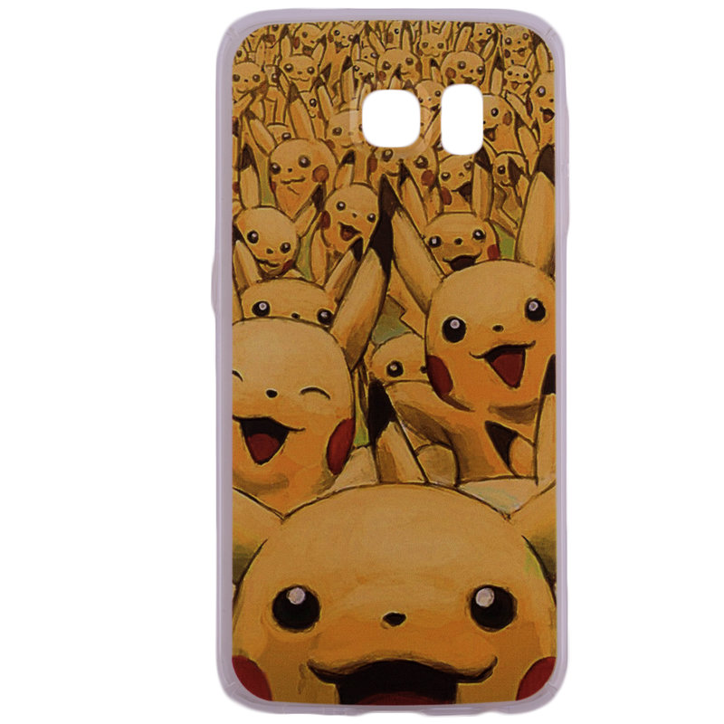 Husa Samsung Galaxy S6 G920 Plastic cu Model Pokemon Pikachu Army