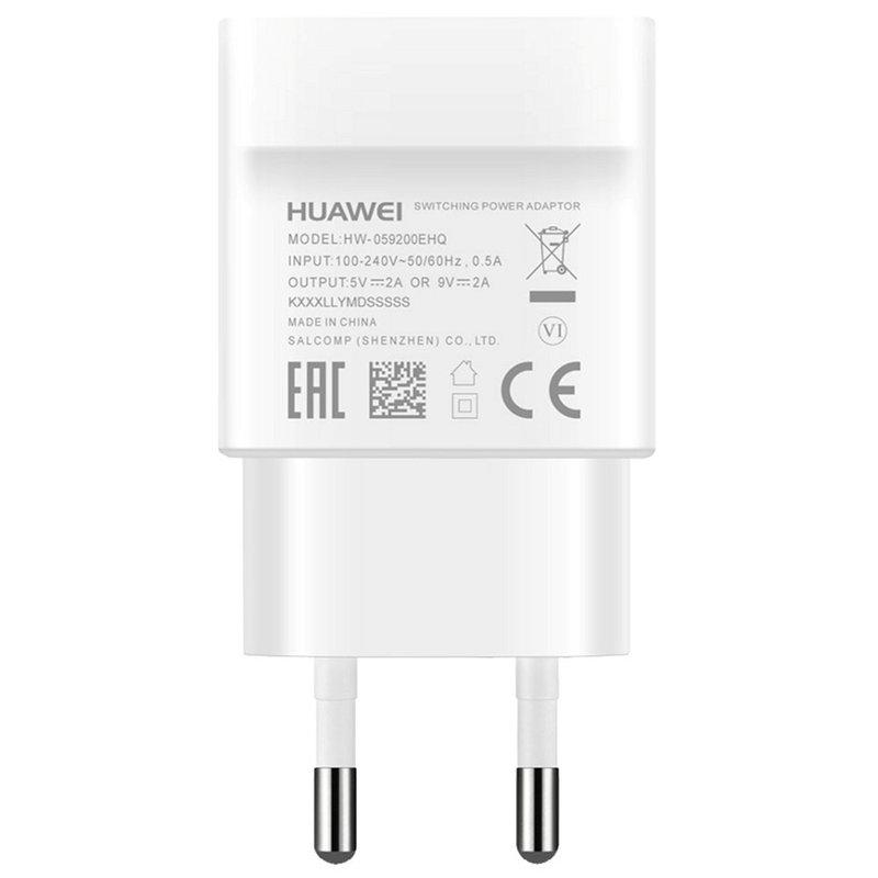 Incarcator Priza Original Huawei AP32 Blister + Cablu de Date USB Type-C - Alb