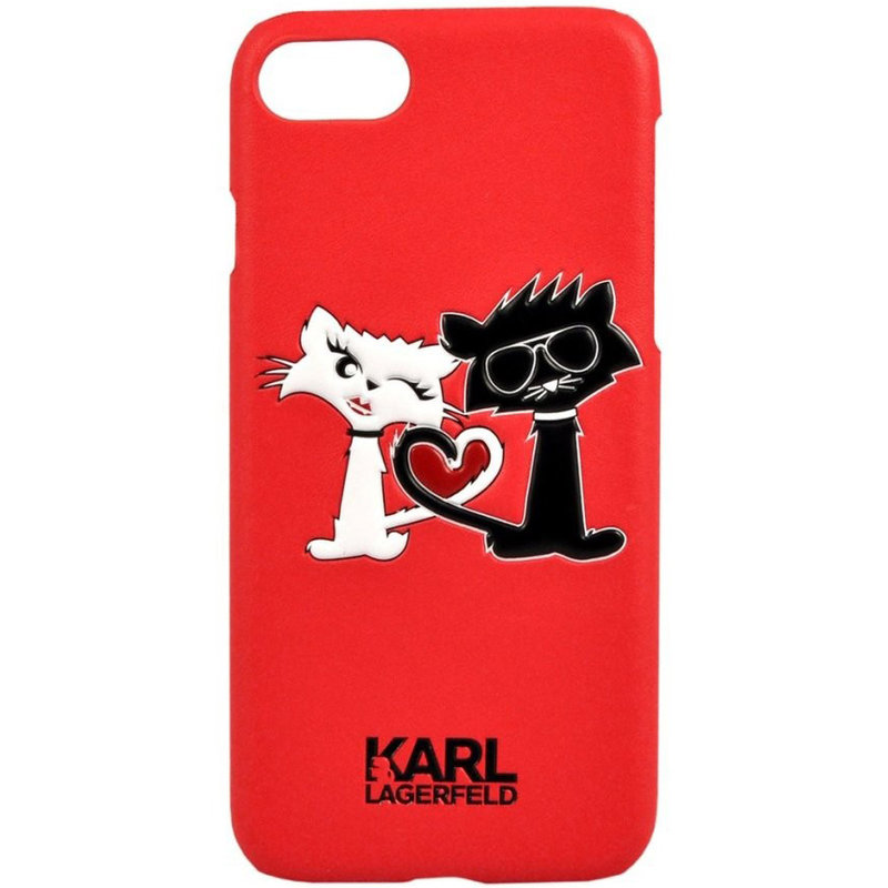 Bumper iPhone 7 Karl Lagerfeld - Rosu KLHCP7CL1RE