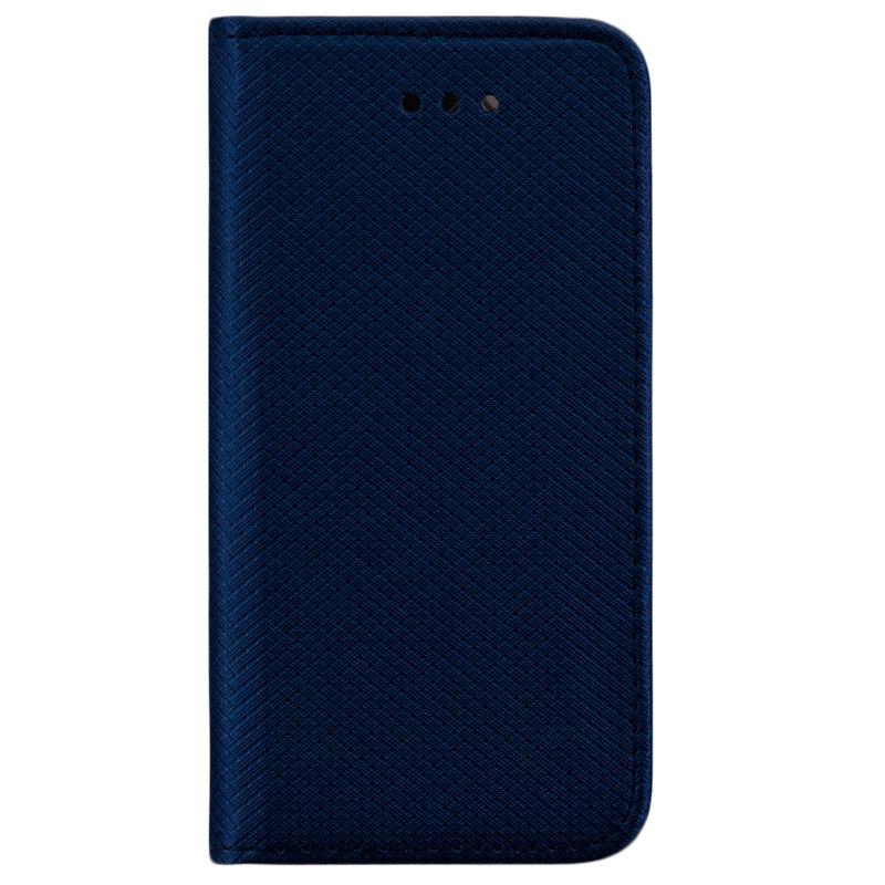 Husa Smart Book iPhone SE, 5, 5S Flip Albastru
