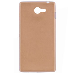 Husa Sony Xperia M2 Jelly Leather - Auriu