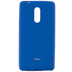 Husa Lenovo K6 Note Roar Colorful Jelly Case Bleu Mat
