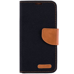 Husa Samsung Galaxy S6 Edge G925 Book Canvas Negru