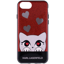 Bumper iPhone 7 Karl Lagerfeld Choupette Valentine - Rosu KLHCP7VDCRE