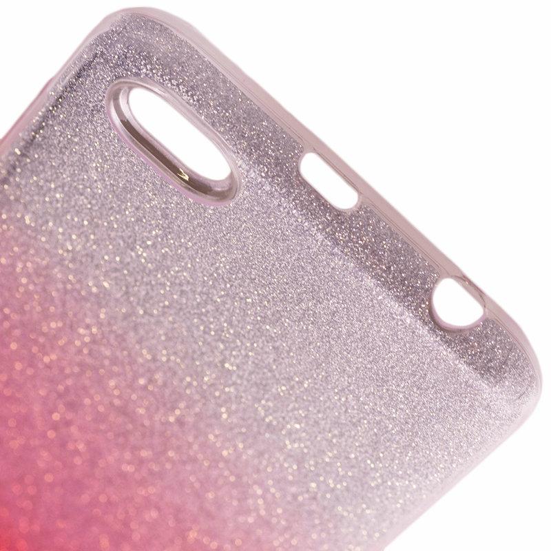 Husa Xiaomi Redmi Note 5A Gradient Color TPU Sclipici - Roz