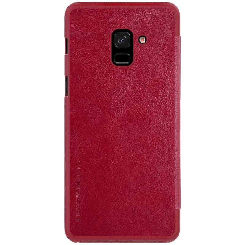 Husa Samsung Galaxy A8 2018 A530 Flip Nillkin QIN Rosu