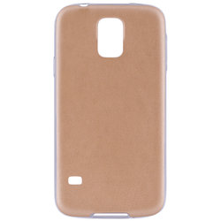 Husa Samsung Galaxy S5 G900 Jelly Leather - Auriu