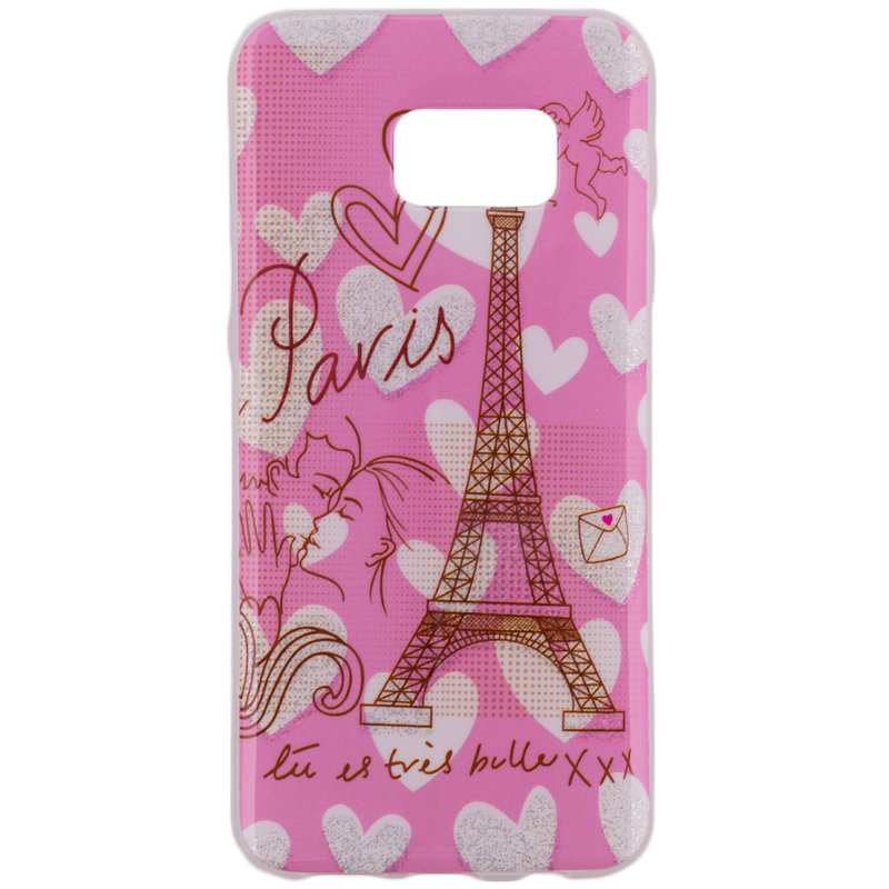 Husa Samsung Galaxy S7 G930 Silicon Gel TPU Paris Kiss