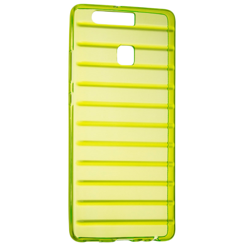 Husa Huawei P9 Silicon Slim STRIPES - Verde