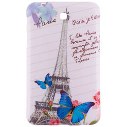 Husa Samsung Galaxy Tab 3 7 inch P3200 Silicon Gel TPU Butterflies And Tower
