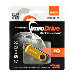 Stick USB 2.0 64 GB Imro Axis Gold