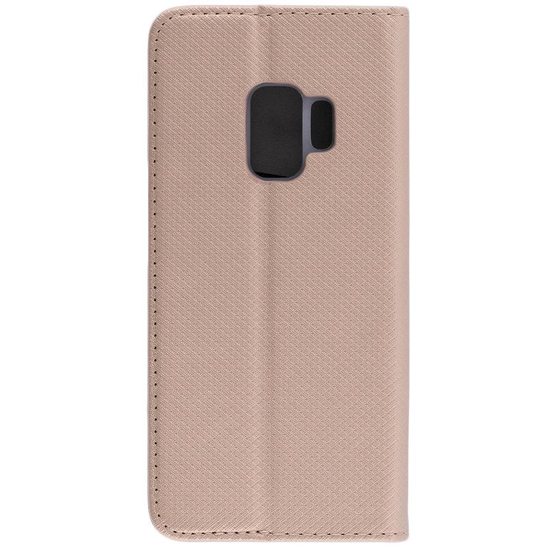 Husa Smart Book Samsung Galaxy S9 Flip Auriu
