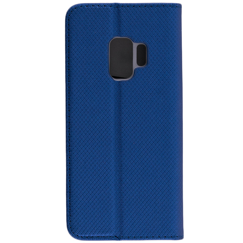 Husa Smart Book Samsung Galaxy S9 Flip Albastru
