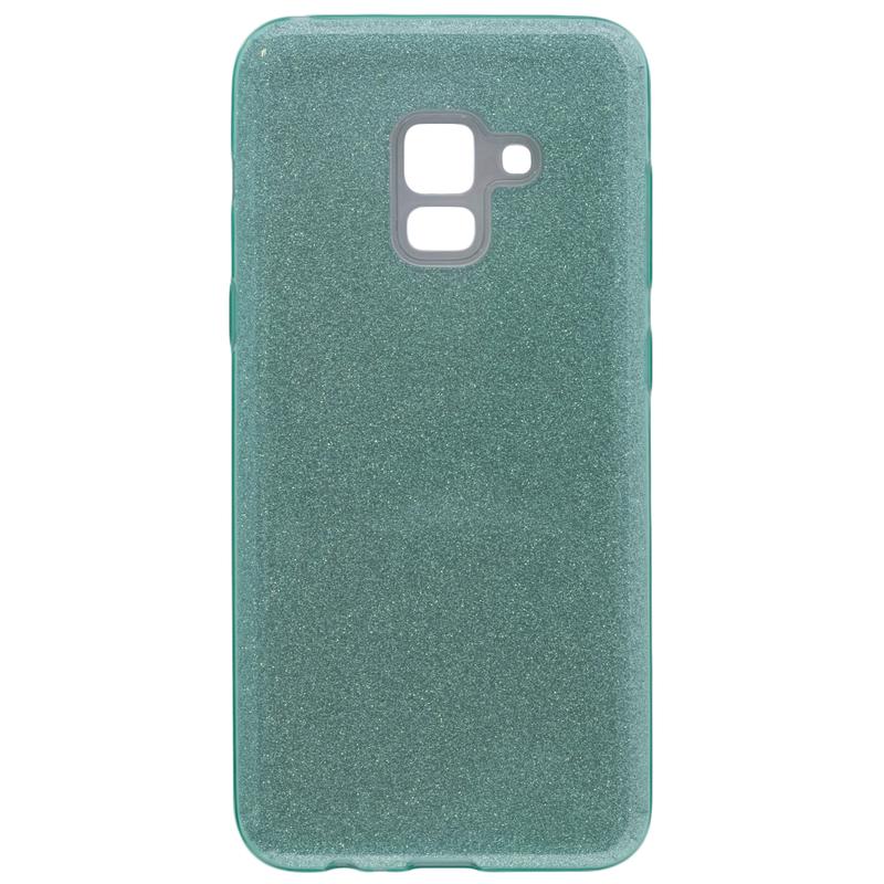 Husa Samsung A8 2018 A530 Color TPU Sclipici - Verde