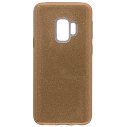 Husa Samsung Galaxy S9 Color TPU Sclipici - Auriu