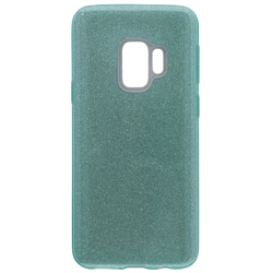 Husa Samsung Galaxy S9 Color TPU Sclipici - Verde