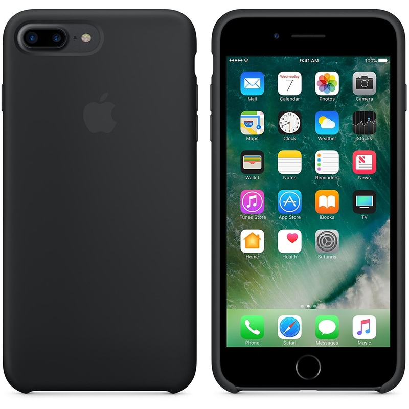 Husa Originala iPhone 7 Silicone Cover - Negru MQGK2ZM/M