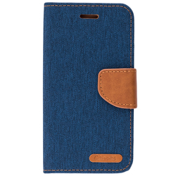 Husa Xiaomi Redmi 5A Book Canvas Bleu