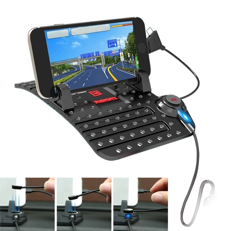 Suport Auto Telefon Remax Super Flexible - Negru