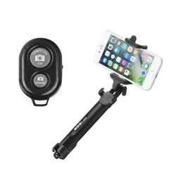 Suport Selfie Tripod Blun Cu Conexiune Wireless - Negru