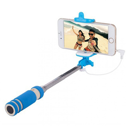 Mini Suport Selfie Blun Mini Jack 3.5mm - Albastru