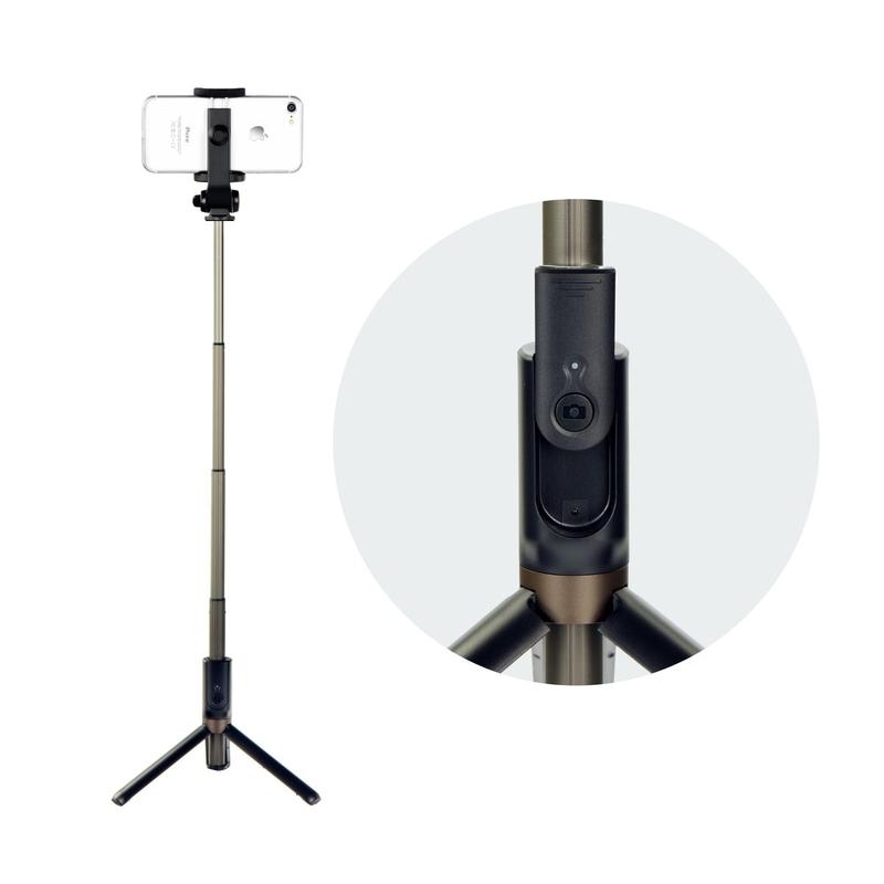 Suport Selfie Stick Dispho Tripod Elite Cu Conexiune Wireless - Negru