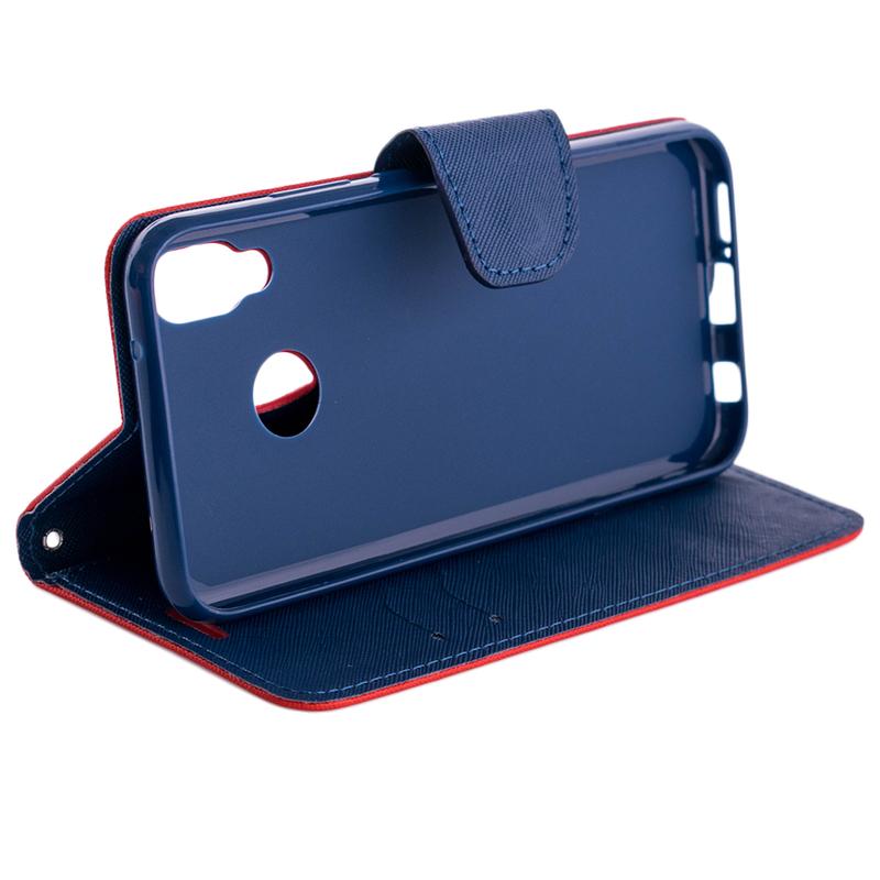 Husa Huawei P20 Lite Flip Rosu-Albastru MyFancy