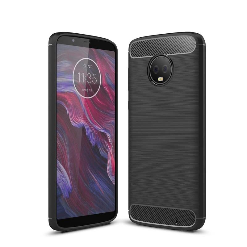 Husa Motorola Moto G6 Plus TPU Carbon Negru
