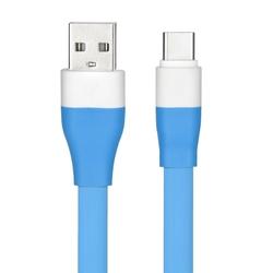 Cablu de date Flat USB 2.0 -USB-C - Albastru